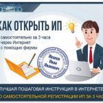 Как открыть и зарегистрировать ИП за 3 часа: подробная инструкция регистрации индивидуального предпринимателя с формами документов и примерами