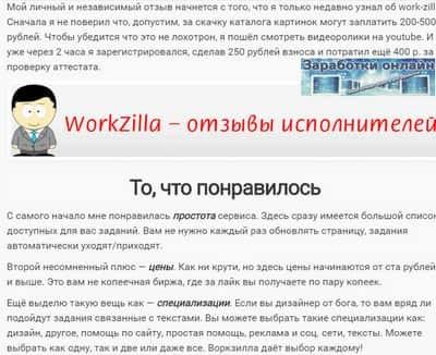 Реальный отзыв о Work-Zilla