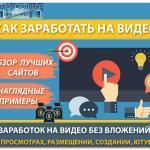 Заработок на видео в интернете: десятка лучших сайтов для заработка денег в интернете на просмотрах видео, их создании или размещении