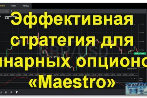 Эффективная стратегия для бинарных опционов «Maestro»