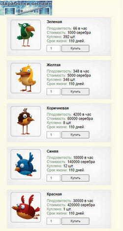 Птицы в Money Birds