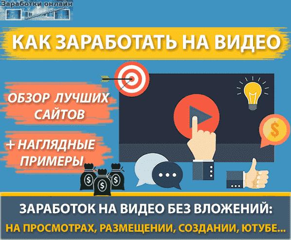 Заработок на видео в интернете