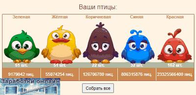 Сбор яиц в Super Birds
