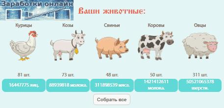 Сбор продукции в игре Колхоз